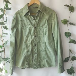 Vintage Esprit Campus green denim shirt size M